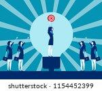 business leader holding success ... | Shutterstock .eps vector #1154452399