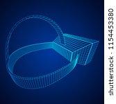 vr glasses virtual reality...   Shutterstock .eps vector #1154453380