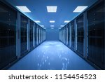 3d rendering server room or... | Shutterstock . vector #1154454523
