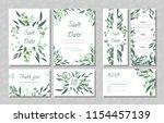 eucalyptus design. wedding... | Shutterstock .eps vector #1154457139