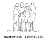 continuous line art or one line ... | Shutterstock .eps vector #1154457160