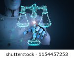 internet law concept with 3d... | Shutterstock . vector #1154457253
