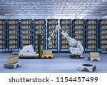 automatic warehouse concept... | Shutterstock . vector #1154457499