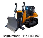 the image of yellow tractor.... | Shutterstock . vector #1154461159