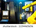 robot arm motion blur in... | Shutterstock . vector #1154465656