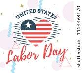 happy labor day. vector logo....   Shutterstock .eps vector #1154468170