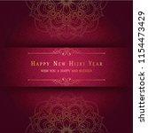 happy new hijri year. islamic... | Shutterstock .eps vector #1154473429