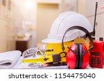 standard construction safety... | Shutterstock . vector #1154475040