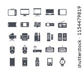 device icon set with solid style | Shutterstock .eps vector #1154479819