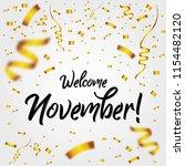 welcome november with golden... | Shutterstock .eps vector #1154482120