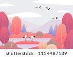 nature background with wetland... | Shutterstock .eps vector #1154487139