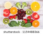 fruits and vegetables as... | Shutterstock . vector #1154488366