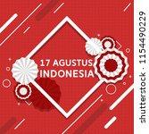 flag of indonesia. indonesia... | Shutterstock .eps vector #1154490229