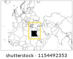egypt map yellow frame... | Shutterstock .eps vector #1154492353