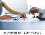 asian business adviser meeting...   Shutterstock . vector #1154492419
