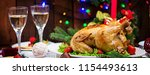 baked turkey or chicken. the... | Shutterstock . vector #1154493613