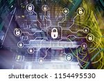 cyber security  data protection ... | Shutterstock . vector #1154495530