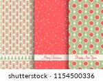 set of christmas seamless... | Shutterstock .eps vector #1154500336