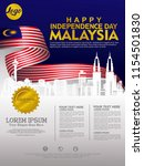 independence day malaysia...   Shutterstock .eps vector #1154501830