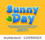 vector bright sign sunny day.... | Shutterstock .eps vector #1154504323