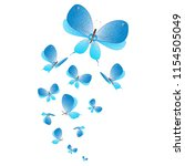 beautiful butterflies  blue... | Shutterstock . vector #1154505049