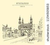 hyderabad  telangana state ... | Shutterstock .eps vector #1154505853