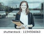 closeup portrait of smiling...   Shutterstock . vector #1154506063