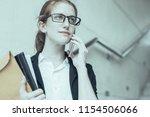 closeup portrait of serious...   Shutterstock . vector #1154506066