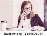 closeup portrait of serious...   Shutterstock . vector #1154506069