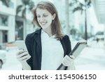 closeup portrait of smiling...   Shutterstock . vector #1154506150