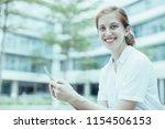 closeup portrait of smiling...   Shutterstock . vector #1154506153