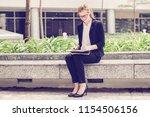 closeup portrait of smiling...   Shutterstock . vector #1154506156