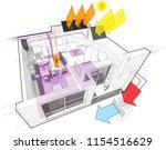 3d illustration of apartment...   Shutterstock .eps vector #1154516629