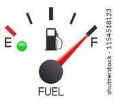 fuel gauge. full tank. car... | Shutterstock .eps vector #1154518123