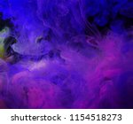 motion color drop in water ink... | Shutterstock . vector #1154518273