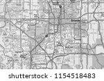 orlando on usa map   Shutterstock . vector #1154518483