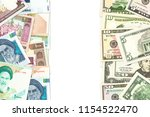 iranian rial and american... | Shutterstock . vector #1154522470