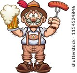 bavarian man with traditional... | Shutterstock .eps vector #1154524846