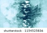 3d rendering of abstract... | Shutterstock . vector #1154525836