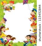 young happy kids   kindergarten ... | Shutterstock . vector #115452844