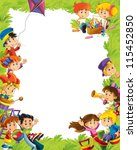 young happy kids   kindergarten ... | Shutterstock . vector #115452850