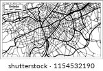 oviedo spain city map in retro... | Shutterstock .eps vector #1154532190
