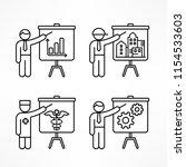 flip chart  linear business... | Shutterstock .eps vector #1154533603
