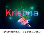 hare krishna mantra poster....   Shutterstock .eps vector #1154536450
