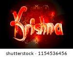 hare krishna mantra poster.... | Shutterstock .eps vector #1154536456