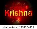 hare krishna mantra poster....   Shutterstock .eps vector #1154536459
