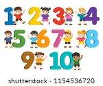 back to school. vector... | Shutterstock .eps vector #1154536720