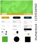 dark green  yellow vector ui...