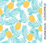seamless summer pattern with ... | Shutterstock .eps vector #1154539813