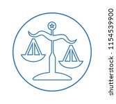 justice scale outline icon | Shutterstock .eps vector #1154539900